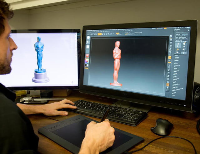 This year's Oscar statues were cast from 3D-printed scans of the 1929 originals