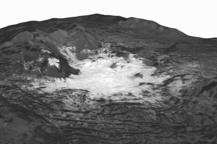 White spots on Ceres are evidence of ancient ice volcanoes erupting