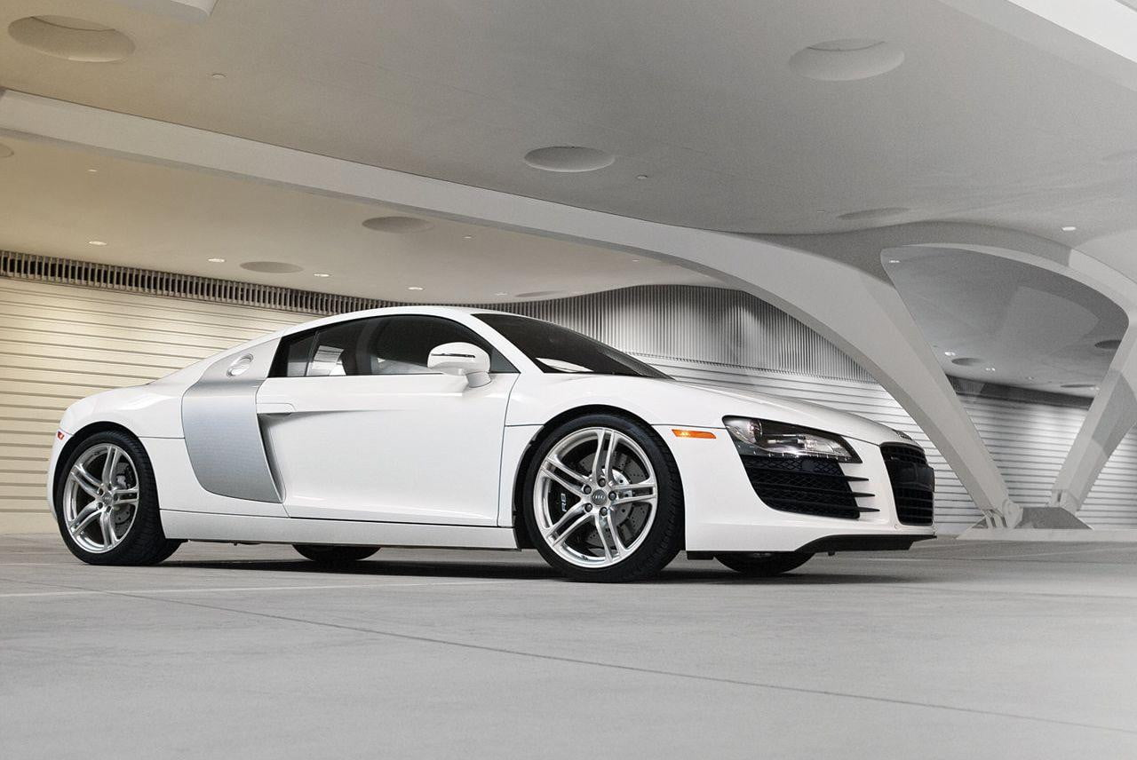 audi's entry-level r8 sports car will wield a twin-turbocharged v6