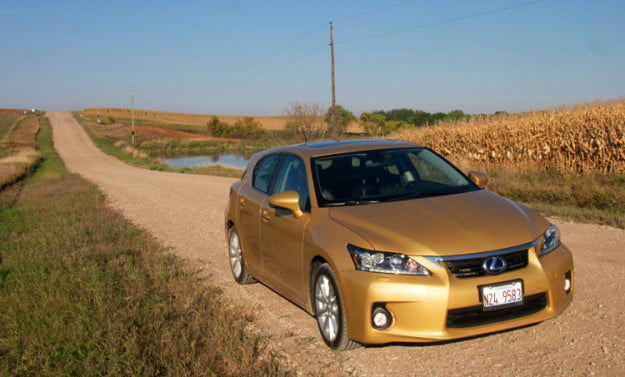 2011 Lexus Ct 200h Front Angle Road