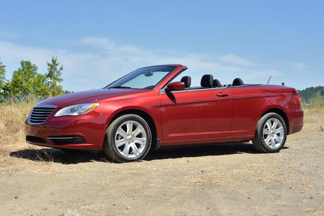 2012 chrysler 200 touring convertible review front side top down