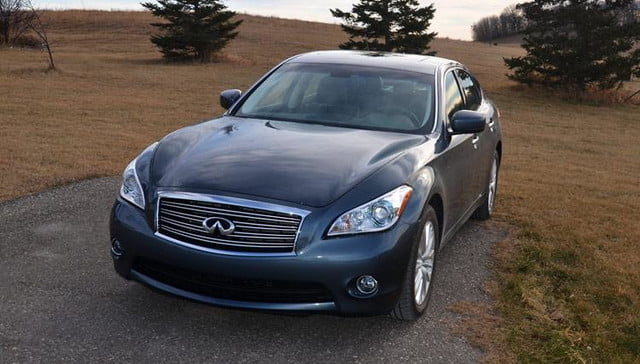 2012 infiniti m56x review front headlights
