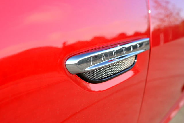 2012 jaguar xkr review jag logo closeup