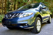 2012 nissan murano sl awd crossover review exterior front side angle