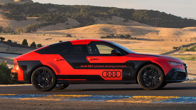 audi self driving a8 2015 rs 7 piloted prototype robby at sonoma raceway 07
