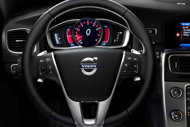 first drive 2015 volvo v60 t5 e steering wheel