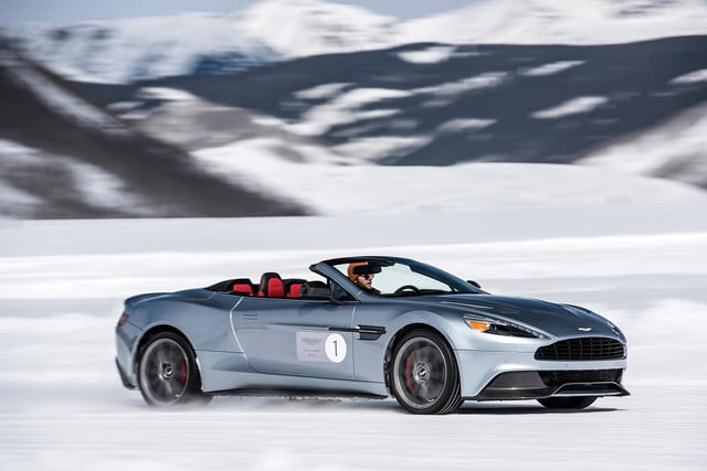 2016 aston martin on ice first drive 10 am track