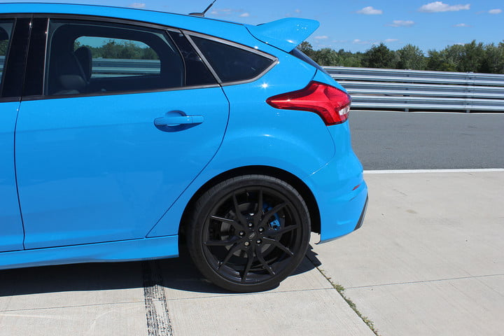 2016 ford focus rs first drive back tire