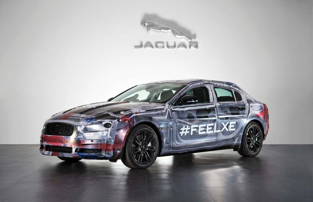 2016 Jaguar XE prototype with transparent bodywork