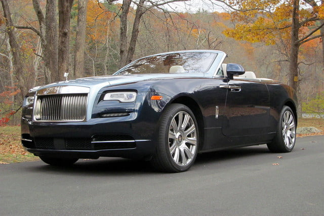 2016 rolls royce dawn roof down front angle low