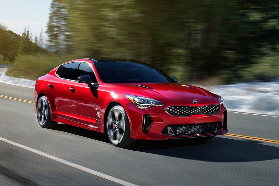 Image result for kia stinger gt car red weight