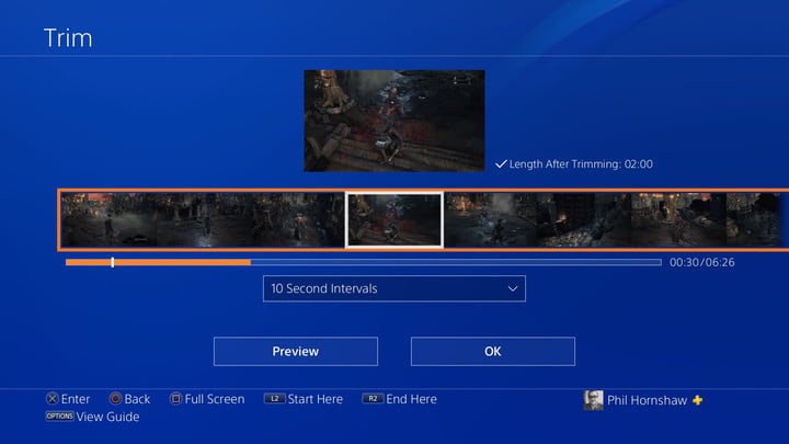 trim menu how to record a gameplay video on ps4