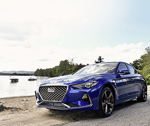 With a stick shift and RWD, the Genesis G70 does luxury with a side of sporty