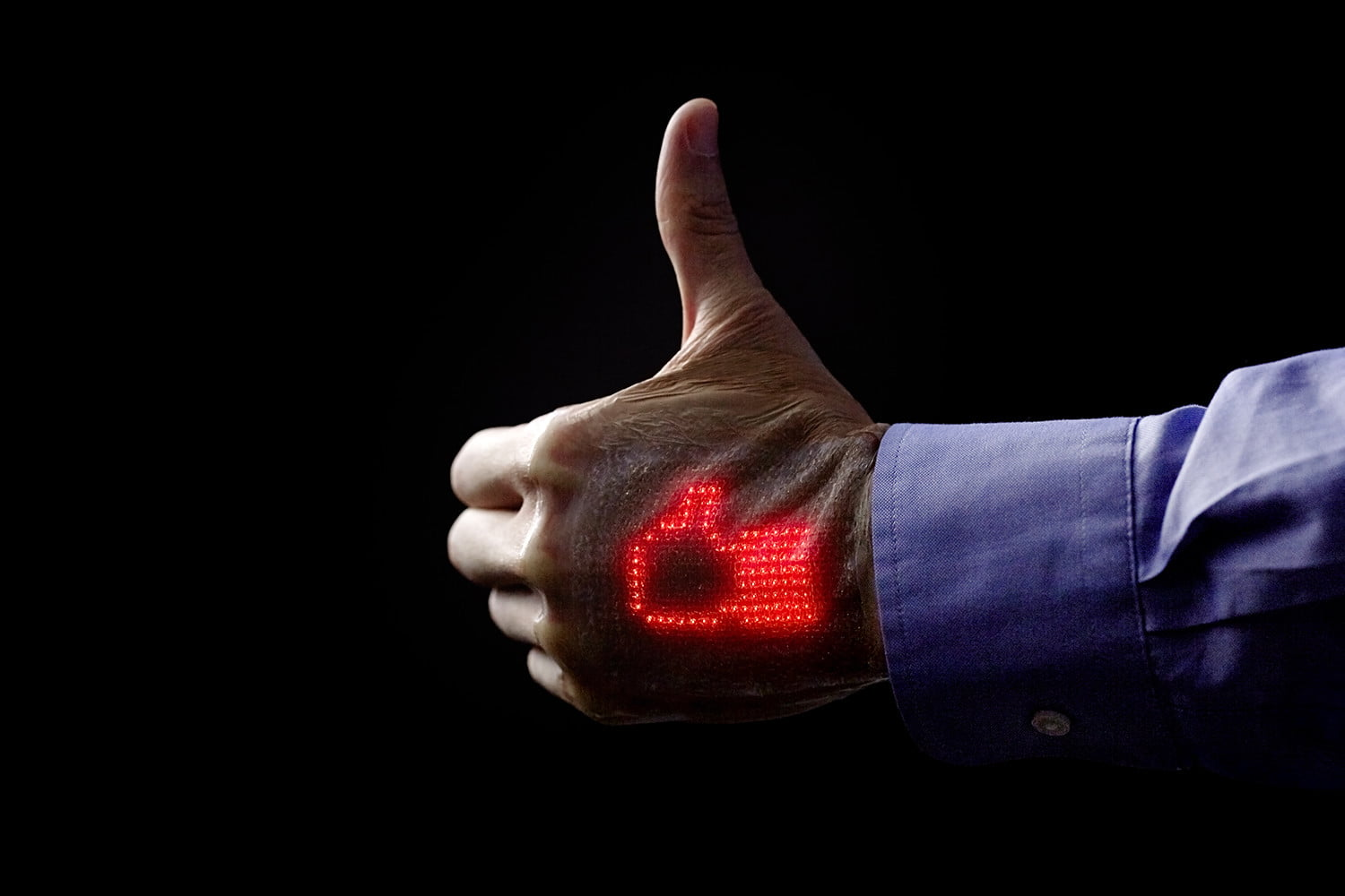 LED-studded 'electronic skin' monitors your health, makes you look like a cyborg