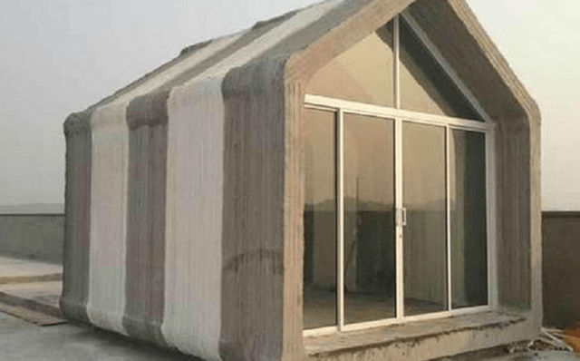 giant 3d printer can build 10 prefab homes 24 hours prinded houses 3