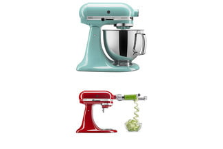 amazon kitchen deals december 11 2018 kitchenaid ksm150psaq artisan series 5 qt  stand mixer with pouring shield aqua sky and