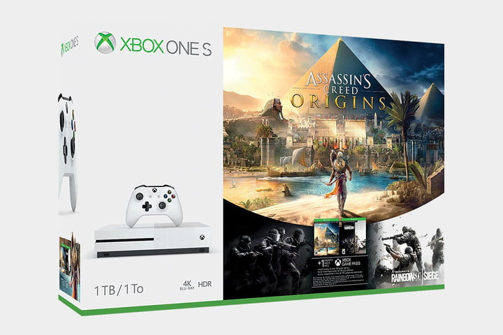 Xbox One bundle deals - Assassin's Creed origins and Rainbow Six Siege