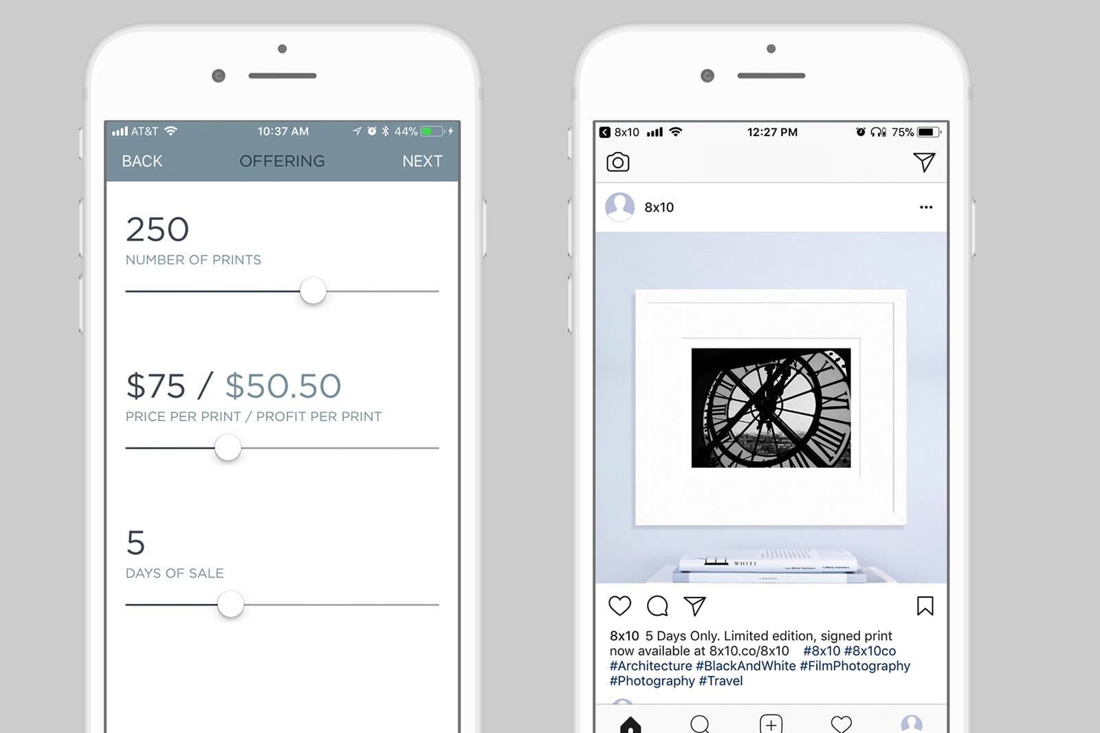 8x10 Sells your Instagrams as Fine Art Prints in a Few Taps ...