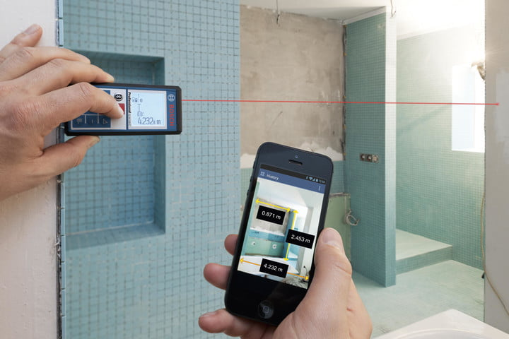 Bosch's new laser rangefinder augments reality on your smartphone