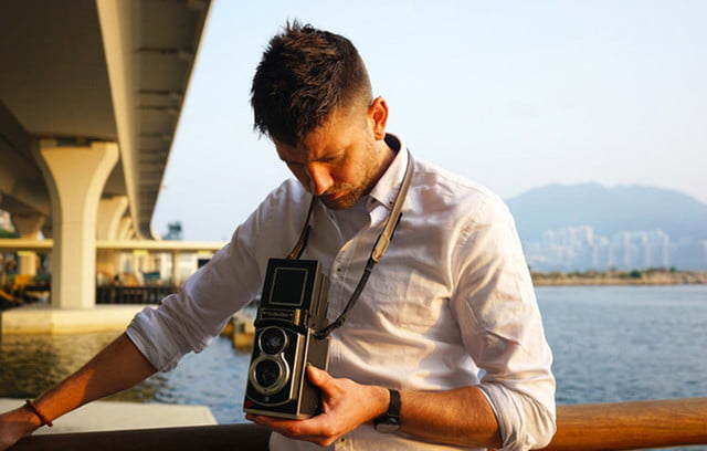 The Rolleiflex returns with a twin-lens instant film camera with modern flair