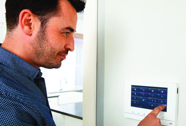 abb freehome smart home solution free dad pointing indoor station final