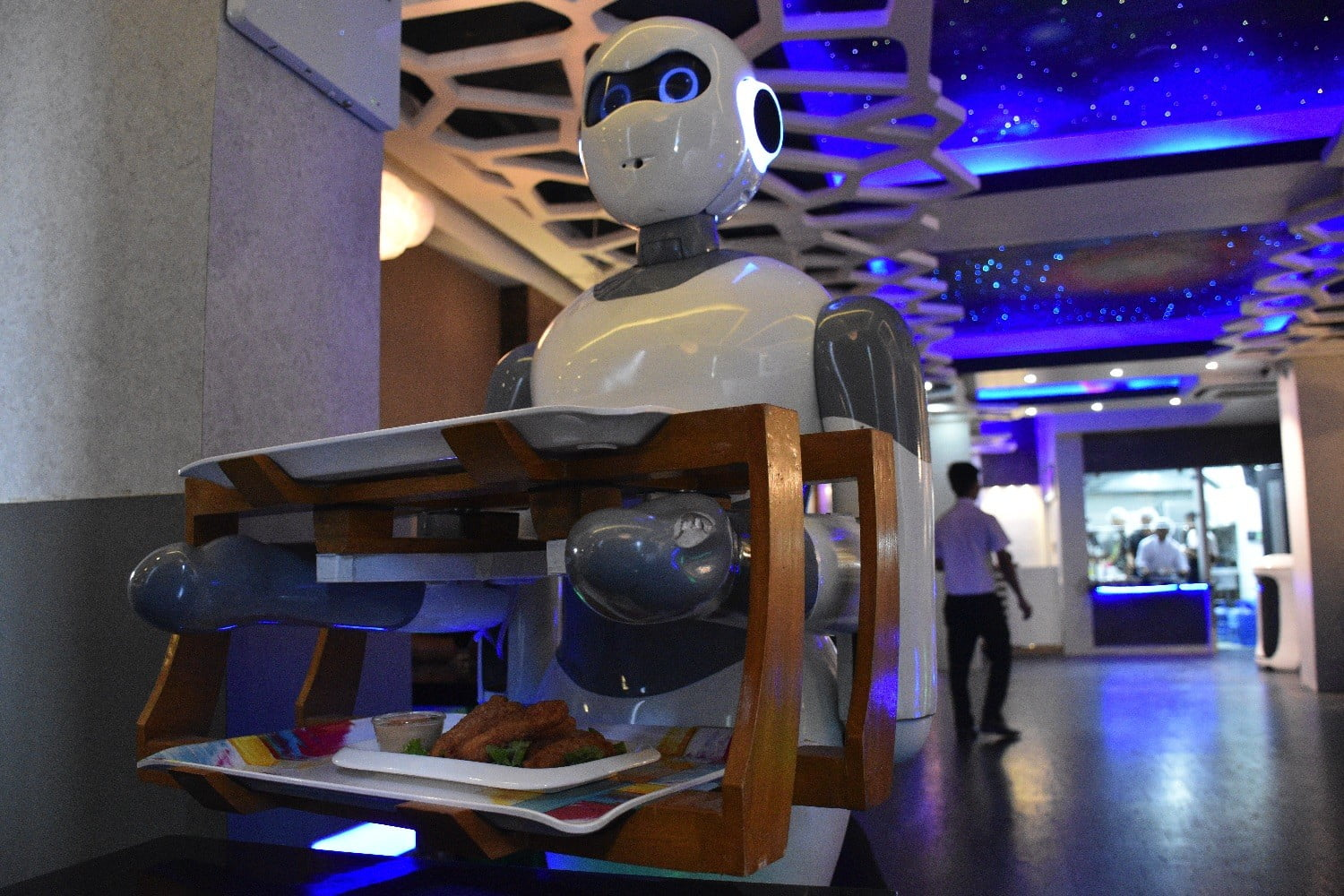 Step inside the Nepalese restaurant staffed by robot waiters