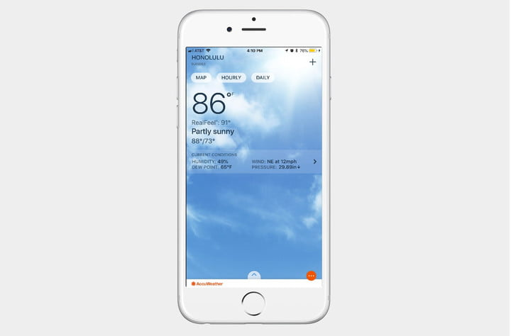 best weather apps for iphone accuweather screenshot