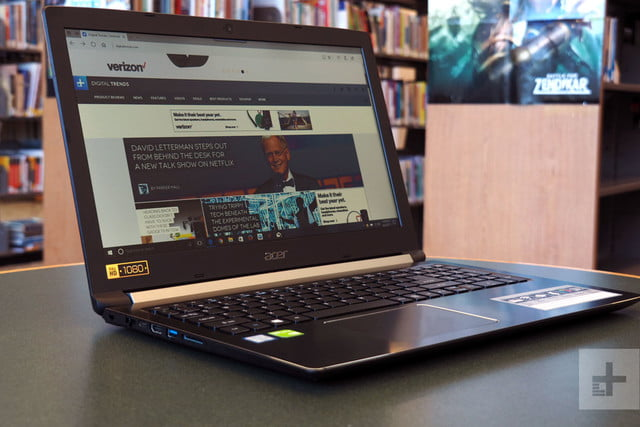 Acer Aspire 5 review left side angle