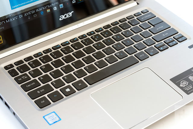 Acer Swift 3 review keyboard