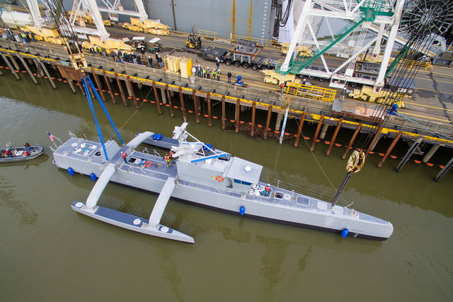 darpa officially christens the actuv in portland launch 5
