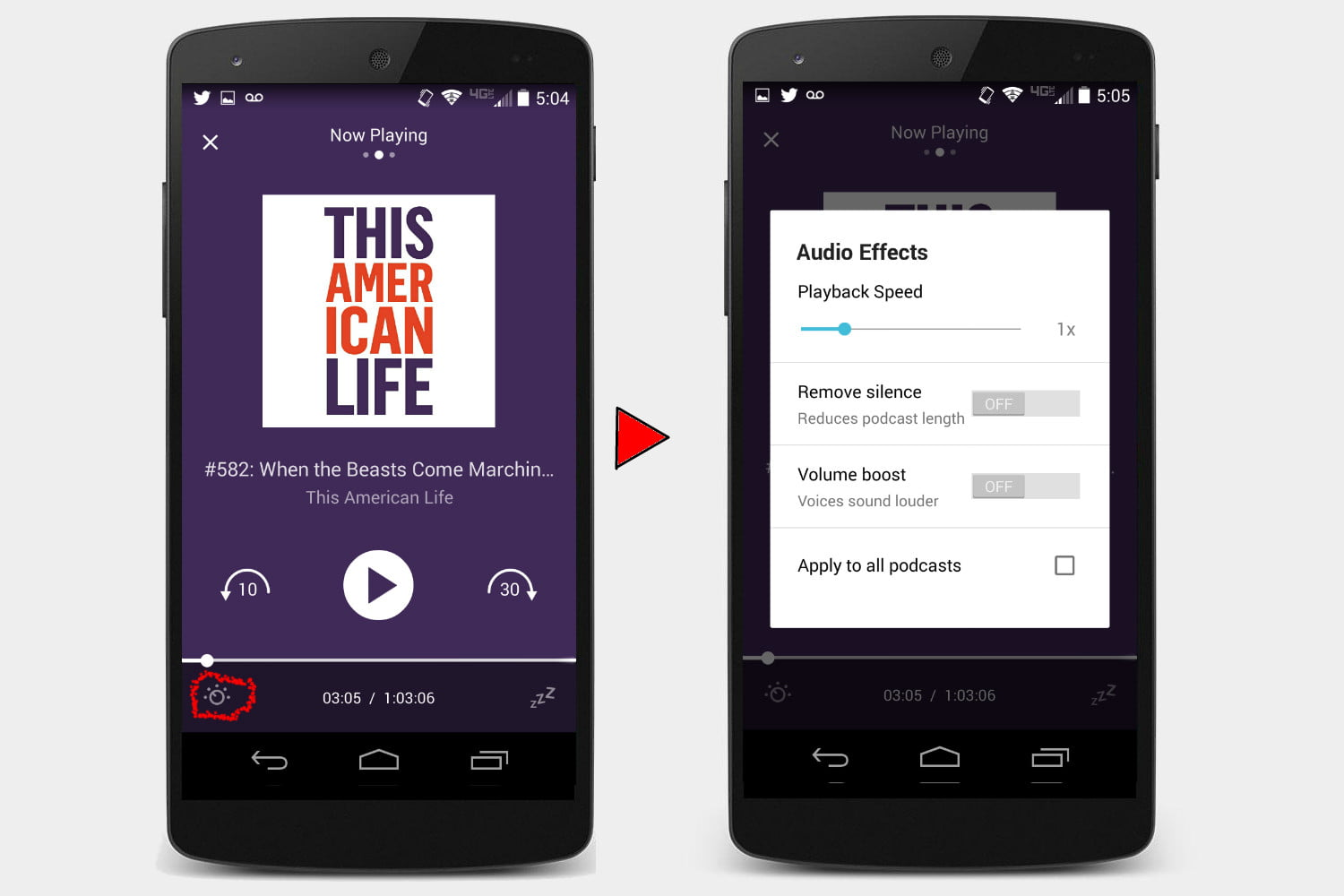 how to download podcasts from itunes to android