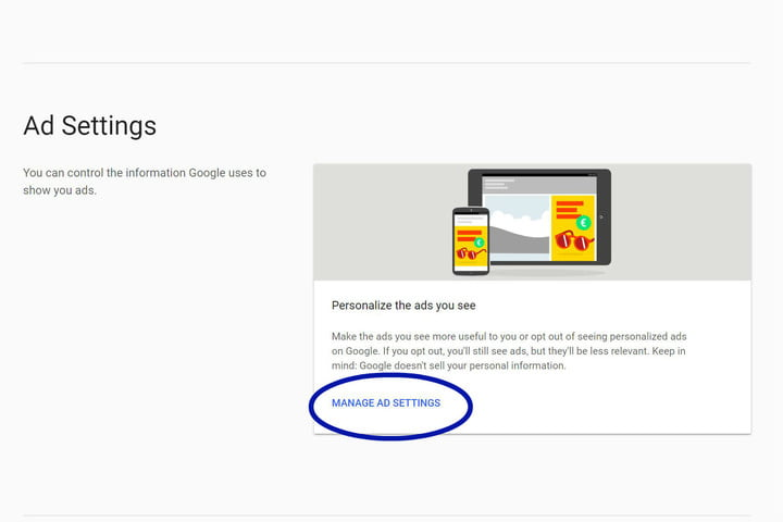 how to turn off targeted ads in google adsettings
