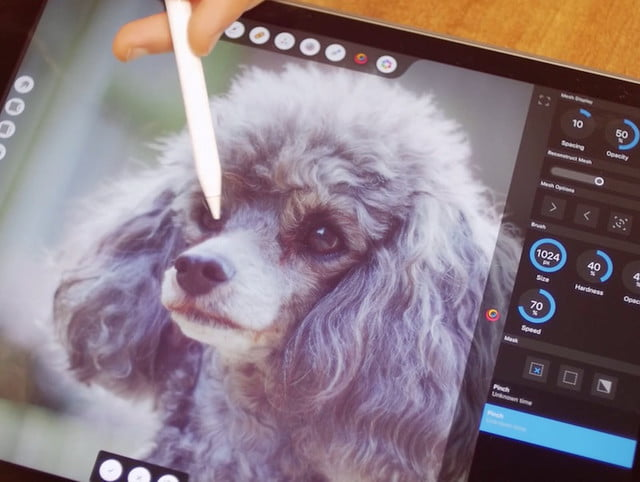 Affinity teases its impressive Photoshop competitor running on a 12.9-inch iPad Pro