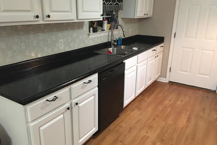 Marvelous faux granite countertops after pic counters