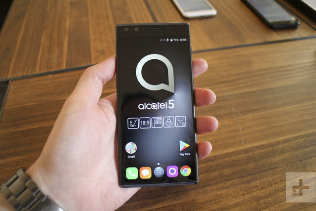 Alcatel Series 5 hands-on review | Closeup of the front of the phone