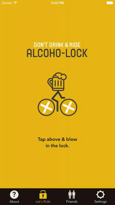 alcoho lock breathalyzer bike android app 5