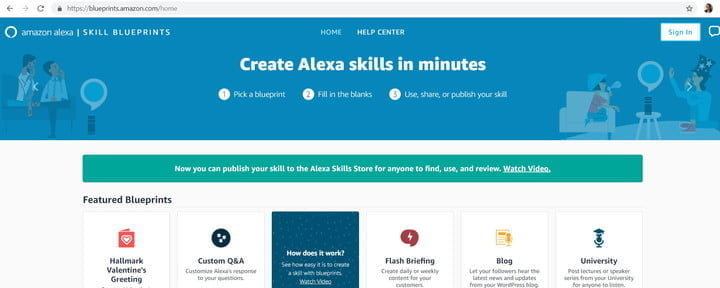 how to build your own alexa skills blueprints