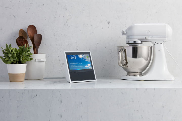 Alexa Gets Icloud Calendar Support Amazon Echo Show White Kitchen Counter