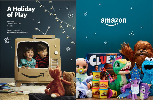 amazon toy catalogue holiday catalog front and back covers
