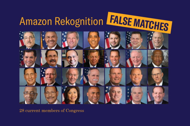 Amazon's facial ID incorrectly identifies Congress members as criminals
