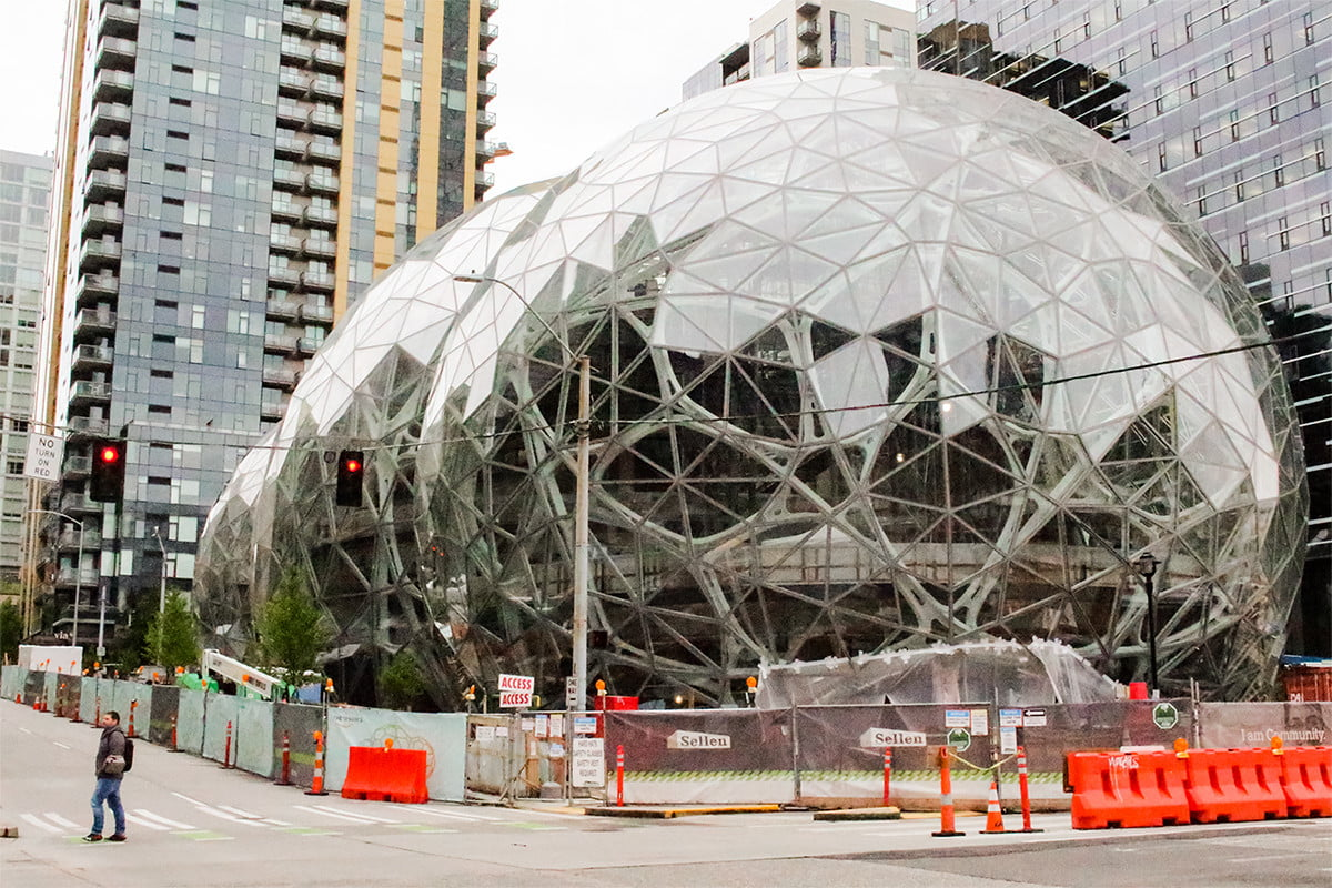 hulu corporate office share. Coolest Corporate Headquarters Amazon Spheres Construction Seattle Hulu Office Share