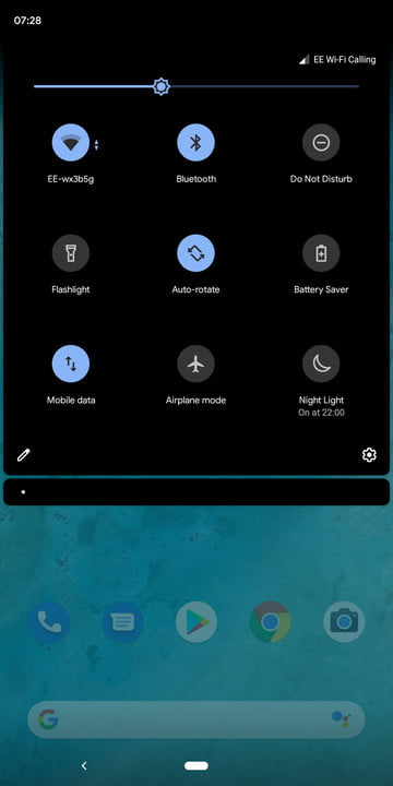 Android 10 Q dark theme