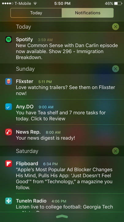 apple iphone 6s review screenshot notifications