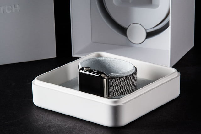 Apple Watch boxes open