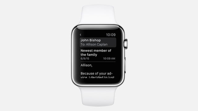 apple watch os 2 news watchos email