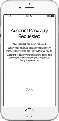 AppleID account Recovery