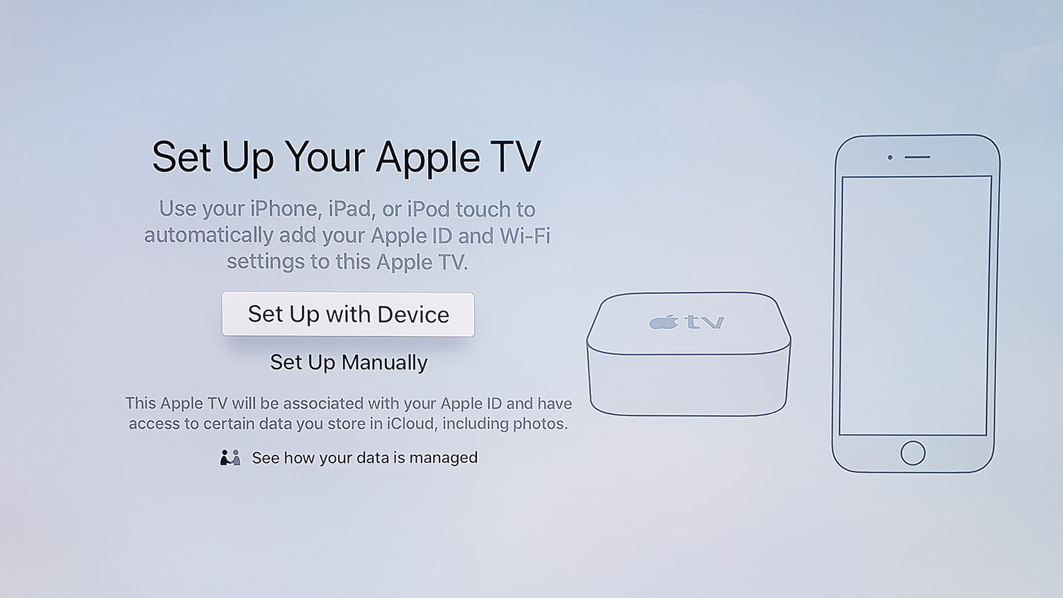 how to set up an apple tv and apple tv 4k digital trends Apple TV Grid how to set up apple tv appletvsetup screen 1
