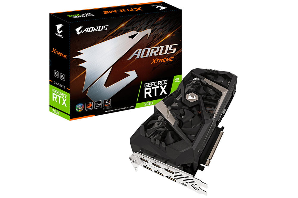 Aorus RTX 2080 Graphics Card Packs Triple Fan Cooling and 7 Video I