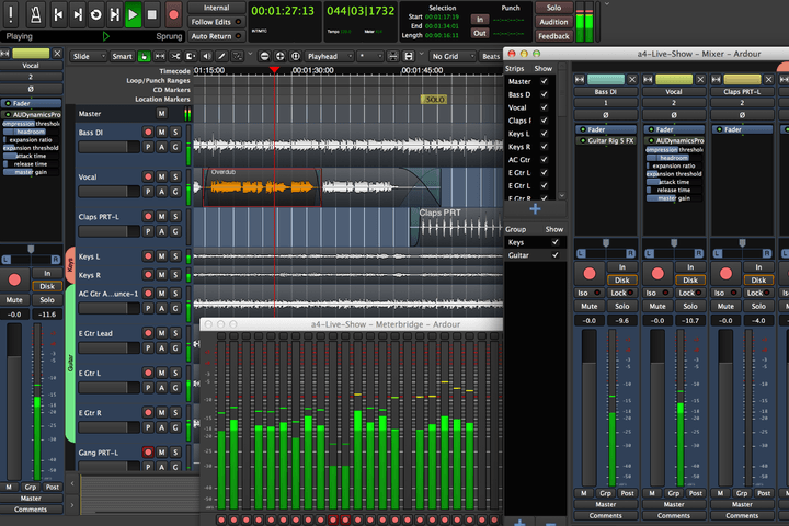 best free recording software - ardour