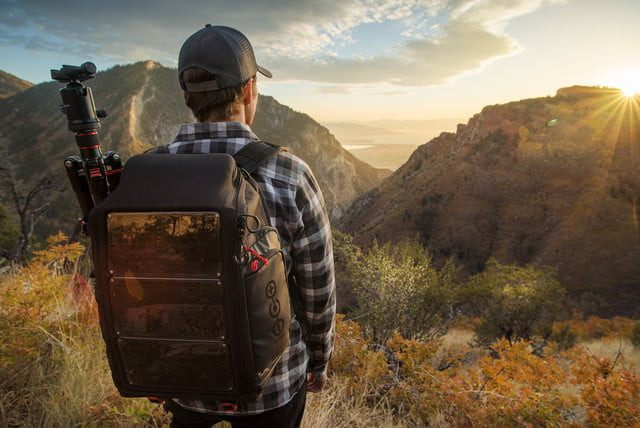 volatic array offgrid solar backpack tripod carry